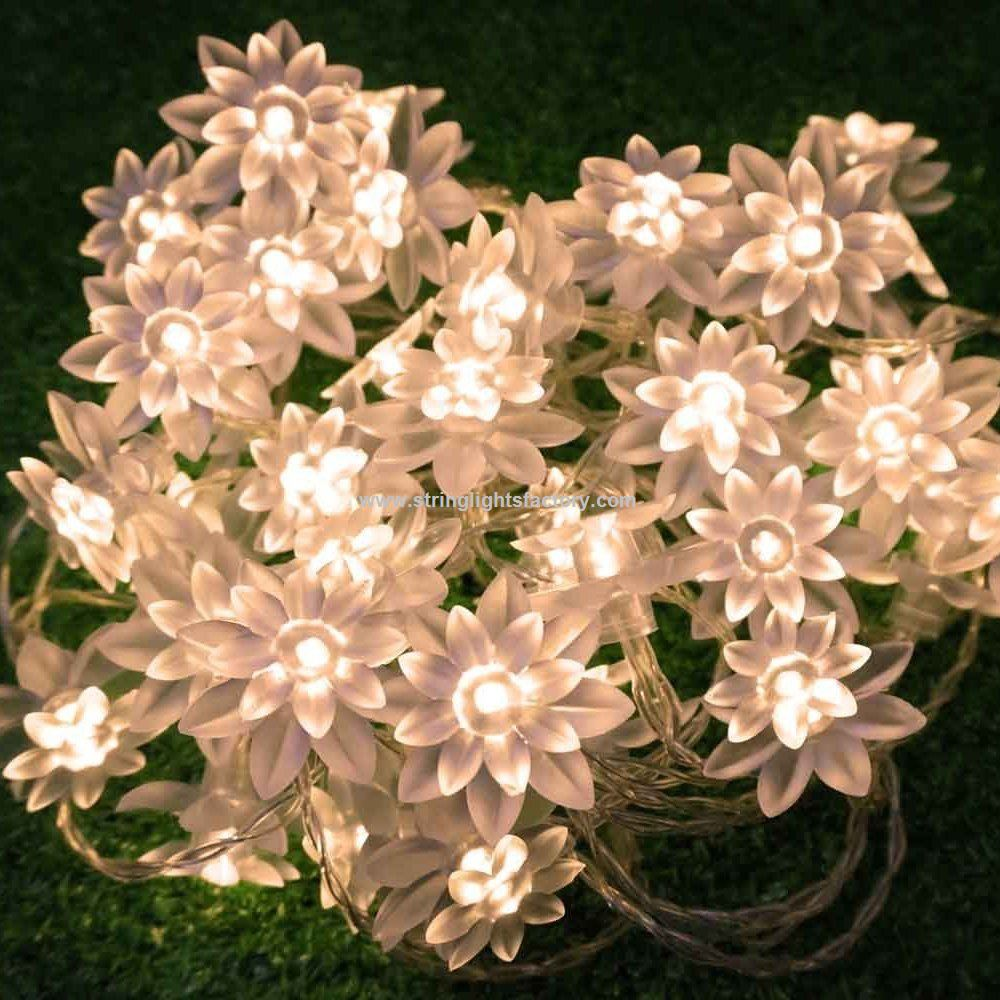 Promotional Lotus Flower Led String Lights 4m13feet 40 Led Fairy