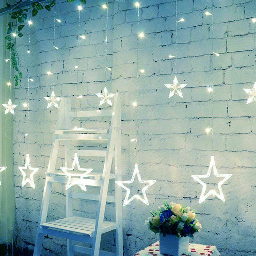 ece5781f81e Impermeable 12stars Hada Luz 138leds cortina luces bateria opearated luces