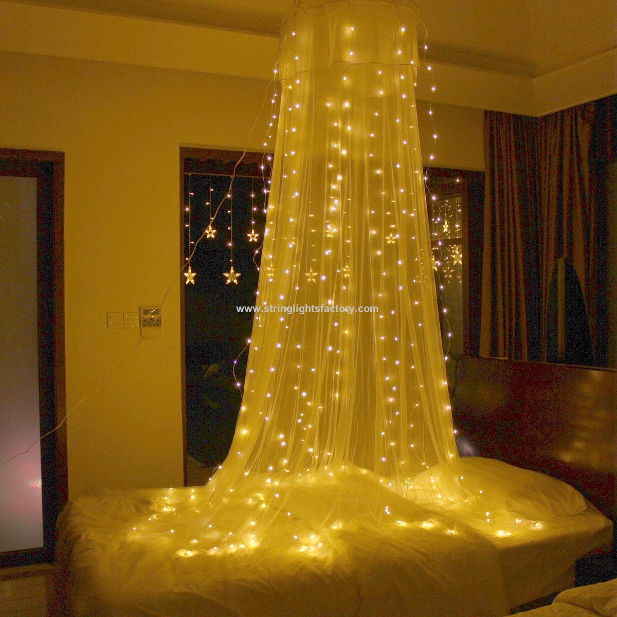 Promotionele 300leds gordijnen licht. Licht decoratieve zilveren ...