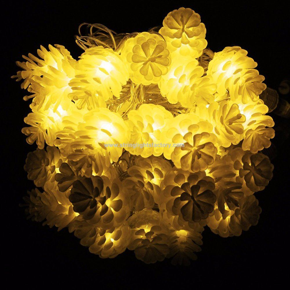 best authentic 7a181 e8fd7 Promotional 40 Pine Cone Garden LED String Lights Warm White ...