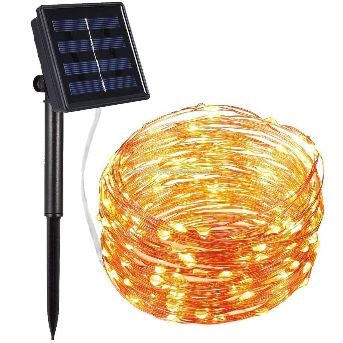Werbeartikel solar string lichter 200 führte kupferdraht licht 72ft ...