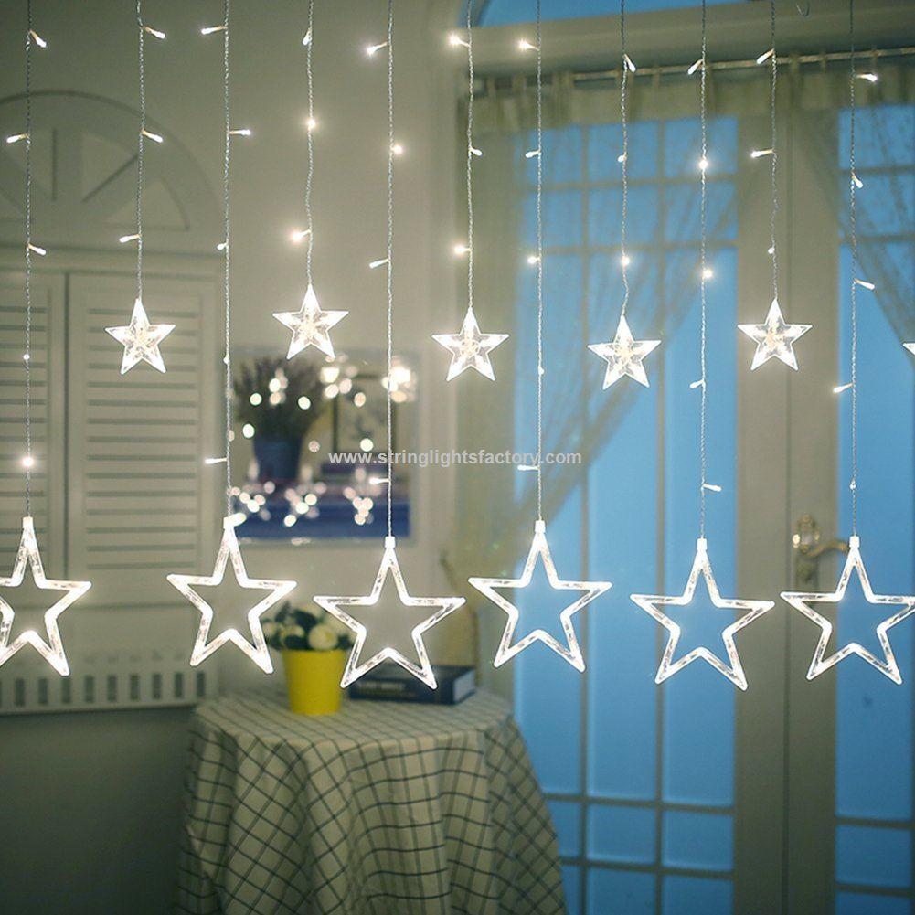 aba81276d6a Bateria 138leds cortina luces temporada cortina ventana Luces Iluminacion  Star
